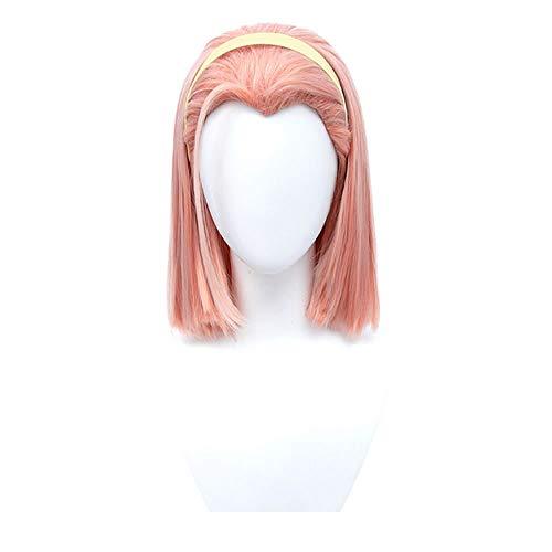 SUTUO Sugimoto Reimi Wig, Anime JOJO Cosplay Orange Pink Short Hair for Girls (without hair band)