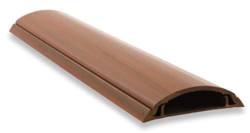 Canaleta de suelo para cable eléctrico imitación madera color nogal. Medidas 2000 x 50 x 10 mm