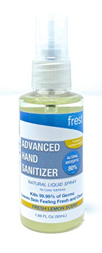 Frest Natural 80% Ethyl Alcohol Based Hand Sanitizer - Fresh...
