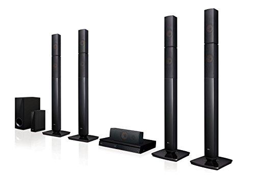 LG Electronics 5.1 3D BLU-Ray Cine en casasystem LHB655NW Negro Bluetooth, inalámbricoe Rückaltavoz