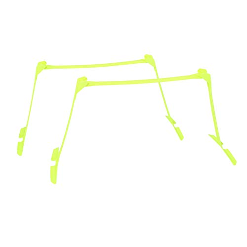 2 vallas de velocidad, fútbol, fútbol, agilidad, velocidad, ayudas para el entrenamiento, vallas ajustables amarillas, ultra duraderas, entrenamiento de velocidad multiusos, agilidad y vallas plio