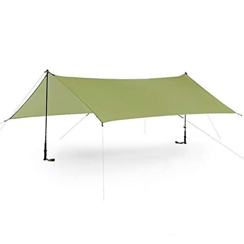 ENCOFT Sonnensegel Wasserdicht Rechteckig Sonnenschutz Block 95% UV Garten Balkon Schwimmbad Leichtgewicht Überdachung mit Seil Bodennagel Grün 3x4.5m