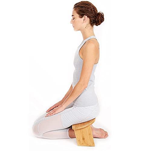 RR-YRN Tragbarer Meditationshocker, schräges Bein-Faltmeditation-Hocker mit Schlossmagnetscharnier, ergonomisch, geeignet für langfristige Praxis, Yoga, Meditation, Gebet