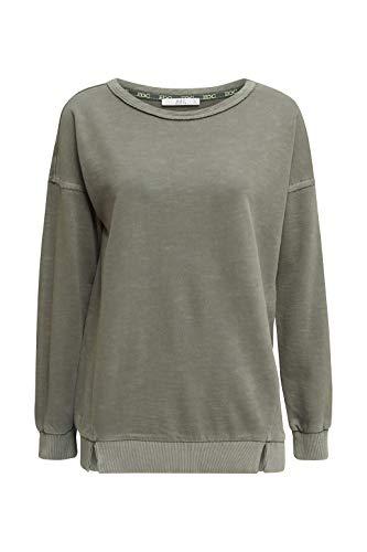edc by ESPRIT Damen 030CC1J302 Sweatshirt, 350/KHAKI Green, M