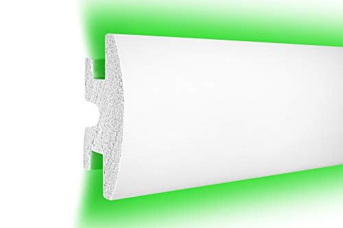 1,15 m | LED Profil | XPS | indirekte Beleuchtung | Trockenbau | lichtundurchlässig | Rigips | Tesori | 120x55mm | KD306