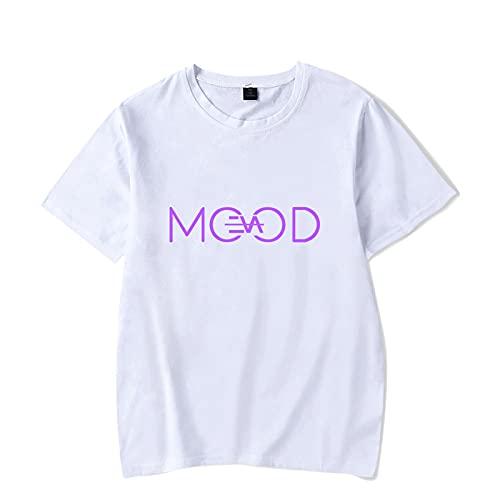 CCEE Camiseta De Algodón con Diseño Personalizado De Eva Queen para Hombres Y Mujeres, Camiseta De Algodón para Cantante Francesa Evaqueen Eva Jlc Jlc, Camisetas De Algodón