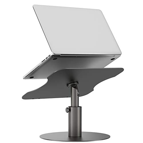 Adjustable Laptop Stand, YoFeW Aluminum Laptop Riser, Multi-Angle Height Adjustable 360°Rotation Notebook Stand Desktop Holder Compatible with Mac MacBook Pro Air, Lenovo, Dell XPS, HP(10-17')