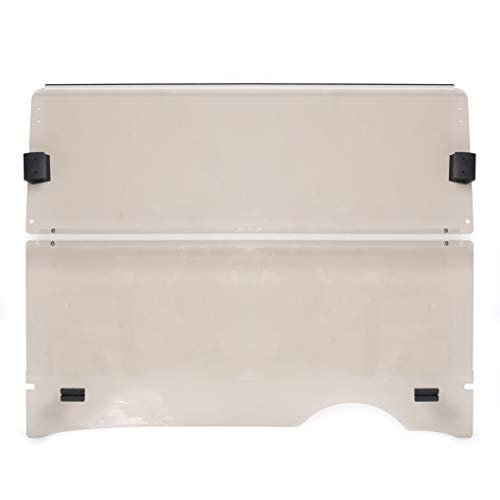 Golf Cart Tinted/Smoke Style Windshield 2008-Present/Current Folding Style Compatible with EZGO RXV Model Impact Resistant Windshield for EZGO RXV Golf Cart(2008&UP)