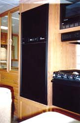Norcold 636218 Refrigerator Door Panel-Lower, Black Acrylic, Fits NXA841 Models