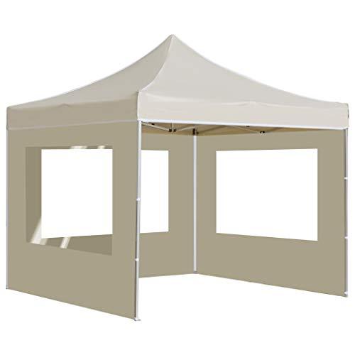 Festnight Gazebo da Giardino Gazebo 2x2 m in Alluminio Pieghevole Gazebo Richiudibile con Pareti Tende Gazebo Chiuso Impermeabile Tendone da Esterno 280 g/m²
