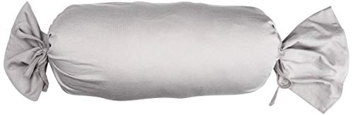 Biberna 0077144 Funda para Rollos de Cuello, algodón Peinado, Muy Suave Jersey Fino 2X 15x40 cm, Gris tormenta