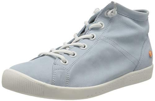 Softinos Damen ISLEEN2586SOF Hohe Sneaker, Blau (Baby Blue 003), 37 EU