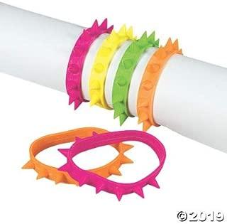 Fun Express NEON Spike Bracelets - Jewelry - 24 Pieces