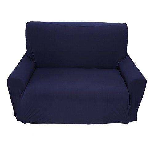 Dsrgwe Funda de Sofá 2 Plazas Easy Fit Stretch Sofa Slfa Slip sobre Sofá Settee Fit Cover Them Putector Blue Blue