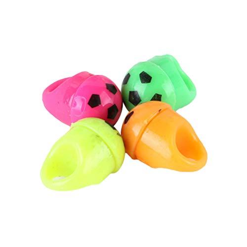 Toyvian LED Blinkende Ringe Fußball Fingerring Blinkende Party Ring Leuchten Finger Spielzeug 12 Stücke (zufällige Farbe)
