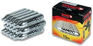 Gamo 62124701554 Air Gun CO2 Cartridges, 15-Pack