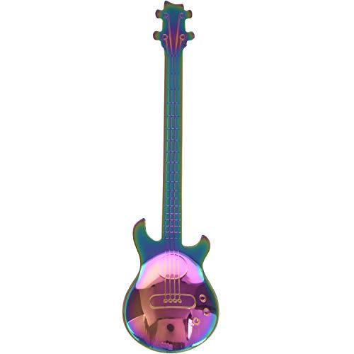 RETYLY Set of 4 Guitar Moulded Stainless Steel Coffee Lollipop Mocha Cup L?ffel Dessert L?ffel Sugar L?ffel Kitchen Cute Utensils