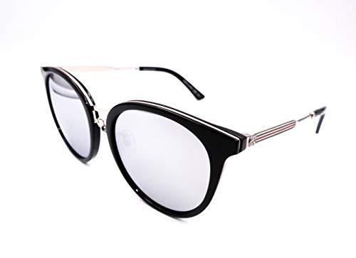 Gucci Authentic Black Cat Eye Sunglasses Gg0204Sk - 006New Argento nero