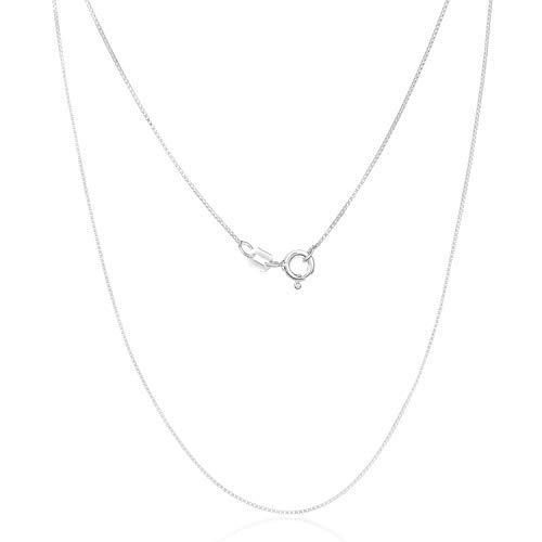 Cadena de plata 925 de 0,7 mm, 0,9 mm, 1,1 mm, 1,3 mm, 1,5 mm o 1,7 mm, fabricado en Italia