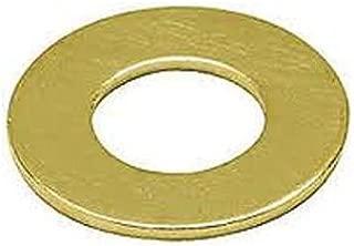 Brass Flat Washer, Plain Finish, No. 10 Screw Size, 0.2