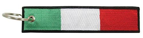 Luso Italien Flagge Schlüsselanhänger, 100% Bestickt