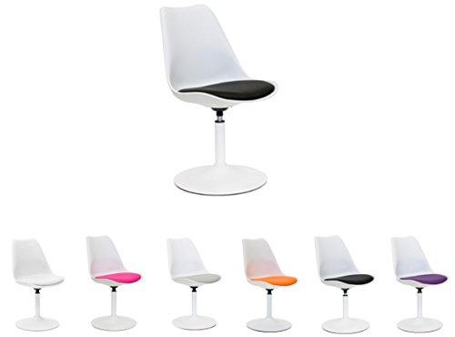 Tenzo 3303-424 TEQUILA - Designer Esszimmerstuhl Viva, Kunststoffschale mit Sitzkissen in...