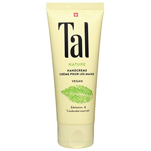 Tal NATURE Handcreme 75 ml, 100% Naturkosmetik, vegan; schützt und regeneriert die geschädigte Hautbarriere, wirkt beruhigend bei akuten Hautreizungen, zieht schnell ein und spendet lange Feuchtigkeit