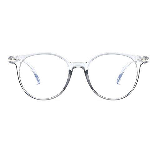 ZYHZP El Bloqueo de luz Azul Gafas Hombres Mujeres Moda Anti Fatiga Visual Decorativo Lentes Luz Ordenador Gafas de protección radiológica (Frame Color : 5)