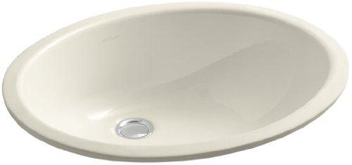 Caxton 27,3cm Unterbau Waschbecken mit glasierter Unterseite almond