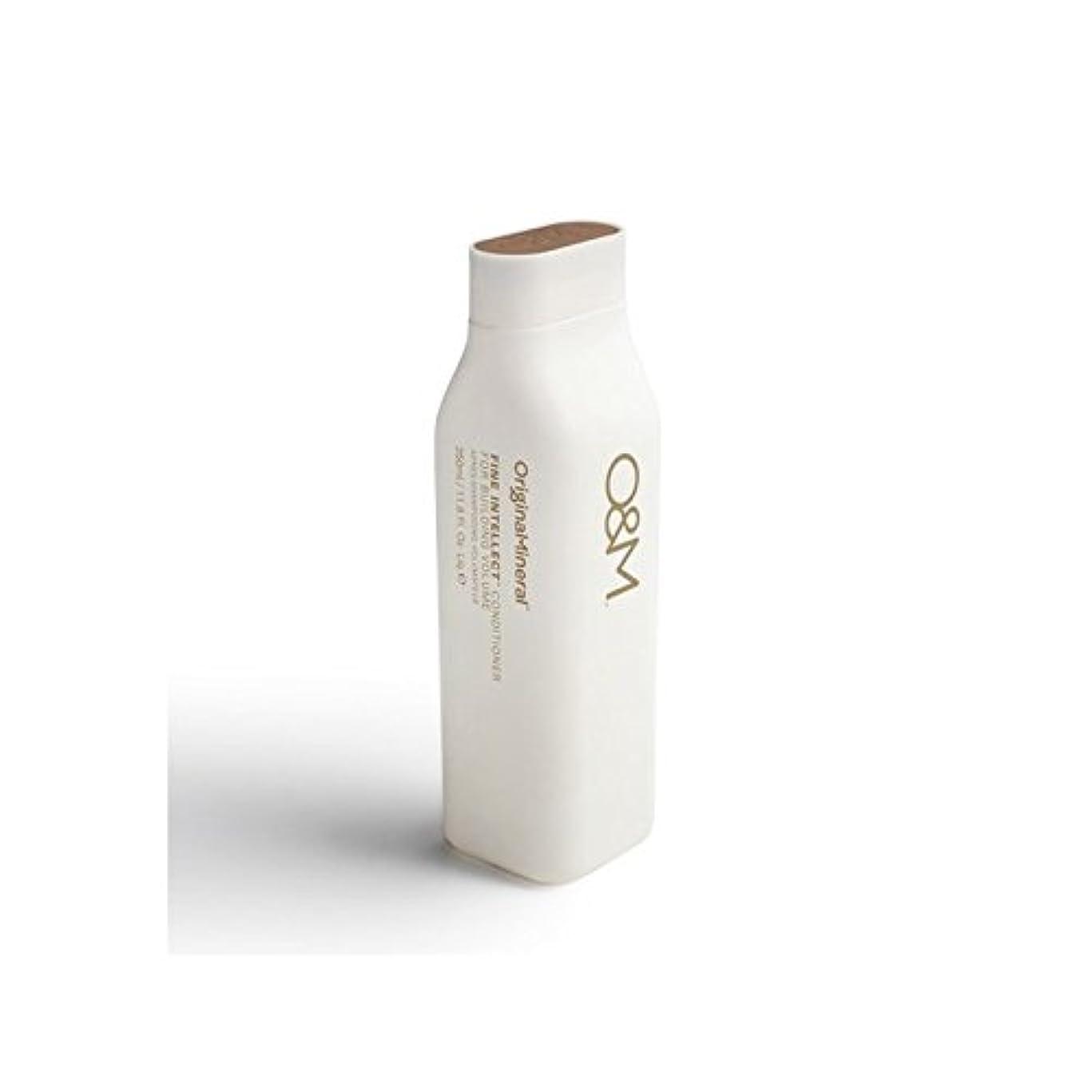 更新カウンターパート一握りOriginal & Mineral Fine Intellect Conditioner (350ml) - オリジナル&ミネラル細かい知性コンディショナー(350ミリリットル) [並行輸入品]