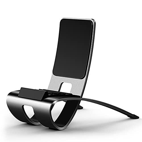 JXCAA Soporte Tablet, Soporte Móvil, Multiángulo Soporte Mesa, 5 MarchasAjustable Sujeta Tablet Mesa Universal Dock Base para Smartphone, 59x115x100mm, 1 Paquete,Gris Oscuro