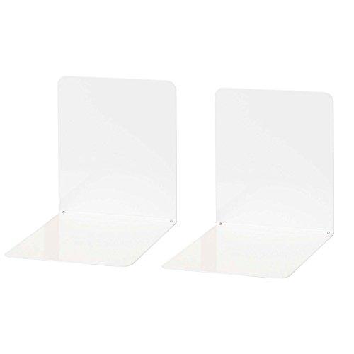 Wedo 1021100 Lot de 2 Serre-livres Blanc