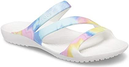 Crocs Women's Kadee II Sandals, Pastel Tie Dye, 8