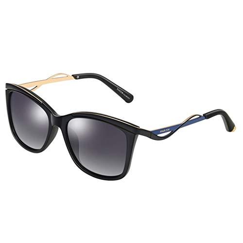 ZXW Gafas de Sol- Gafas de Sol Light Polaroids Retro Tide Sunglasses para Mujer Negro, Tamaño : One Size