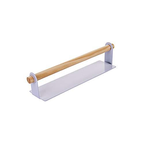 Portarrollos de papel de cocina autoadhesivo para debajo del armario, soporte para rollo de cocina, montaje en la pared y sin necesidad de taladrar rollo de papel para el hogar, la cocina, el baño