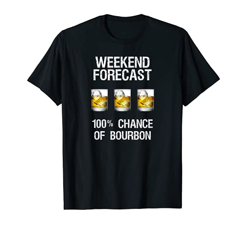 Bourbon T-Shirt Gift - Funny Bourbon Forecast