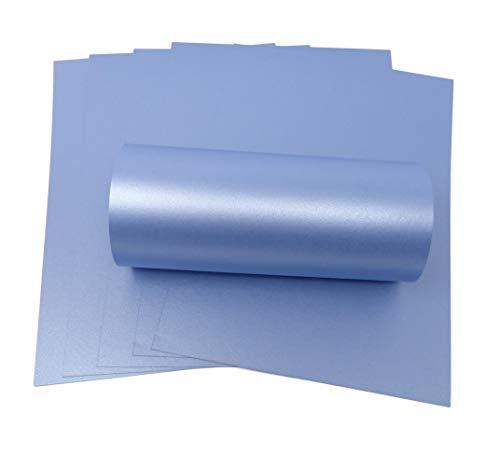 Syntego 10 Blatt Blauer Perlglanz-Schimmer, doppelseitig, A4, dekorative Karte, 300 g/m²
