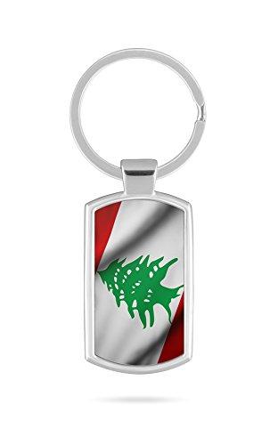 Schlüsselanhänger mit Gravur Wunschtext Name Libanon Fahne 2