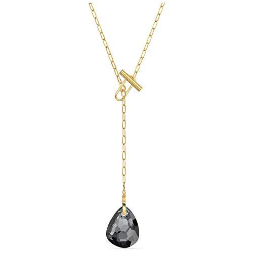 SWAROVSKI Collar en forma de T, color negro, talla única