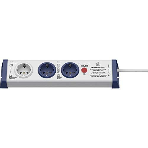 Unbekannt InterBär 8110-002.01 Steckdosenleiste ohne Schalter 3fach Weiß, Blau Schutzkontakt 1St.