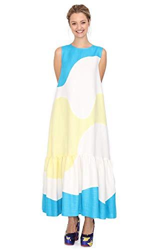 Agatha Ruiz de la Prada - Vestido de Ondas y Volante Tricolor en gazar de algodón