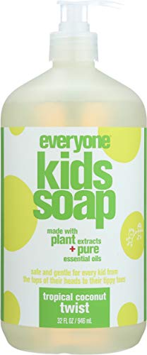 Everyone 3-in-1 Soap for Every Kid Safe, Gentle and Natural Shampoo, Body Wash, and Bubble Bath, Tropical Coconut Twist -  B00EEEG138