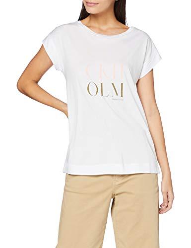 Marc OPolo Body & Beach Damska koszula z okrągłym dekoltem i dekoltem w kształcie litery W