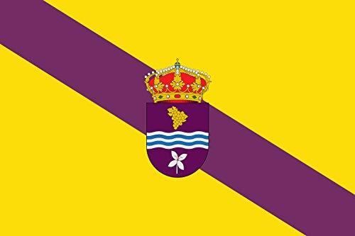 magFlags Bandera Large Municipio de Instinción Almería - España Según la descripción Paño Rectangular de Proporciones 1 1,5 de Color gualdo; terciada en baj