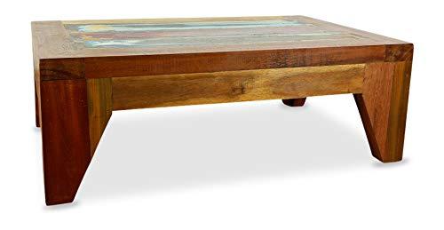 livasia Couchtisch | Recyceltes buntes Bootsholz | Wohnzimmertisch | Java Designer Möbel | Kaffeetisch | Beistelltisch