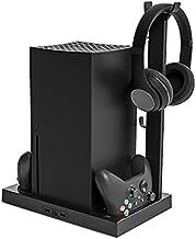 TwiHill a base do ventilador de resfriamento do host é adequada para Xbox Series X, suporte de armazenamento de fone de ou...