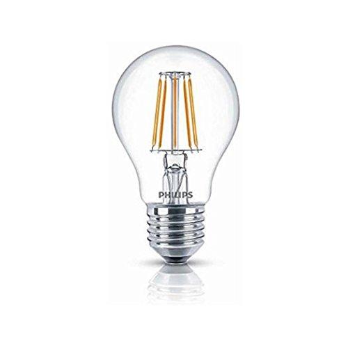 Philips Lighting Lampadina LED Stile Vintage, Attacco E27, 4.3W equivalenti a 40W Goccia Filamento, Luce Naturale Bianca Calda 2700k, 4.3 W