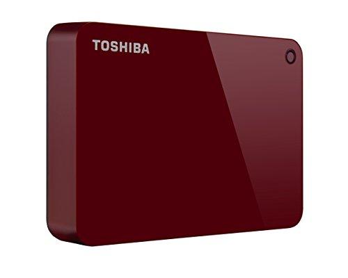 Toshiba Canvio Advance HDTC940XR3CA Externe Festplatte, 4 TB, USB 3.0, Rot