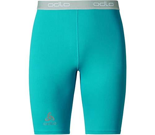Odlo Tights Short Sliq 2.0 Pantalon de Course XXL Blue Jewel - Platinum Grey