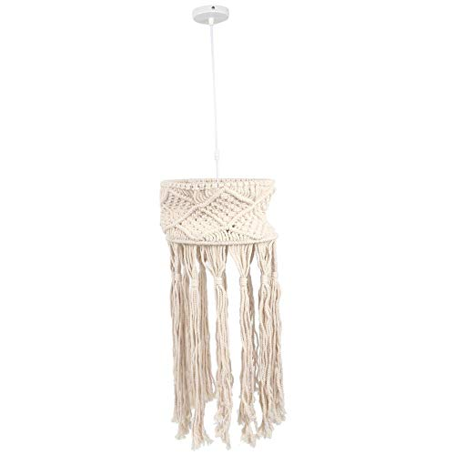 LED Hand gebreide Macrame lampenkap, geweven touw lampenkap, plafond hanglamp schaduw, Boheemse kroonluchter voor woonkamer slaapkamer